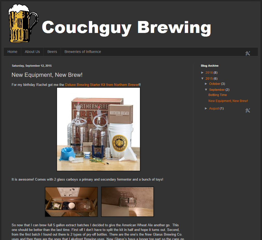 Couchguy Brewing Blog